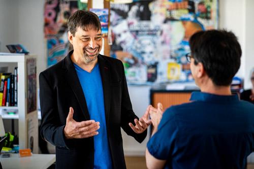 Hervé Leblanc, coachant un professionnel